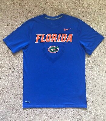 23e920a1867 Men s Nike Dri-Fit University Of Florida Gators Football Blue Orange Size  Medium