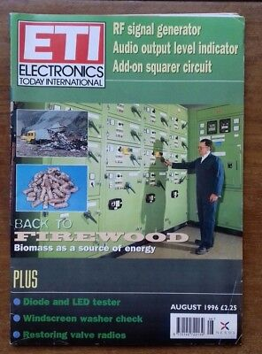 Vintage Electronics Today International ETI August 1996 Biomass Diode tester