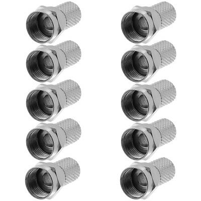 10x F Connector Twist On Type For RG59 Coax Coaxial Cable TV Antenna Satellite