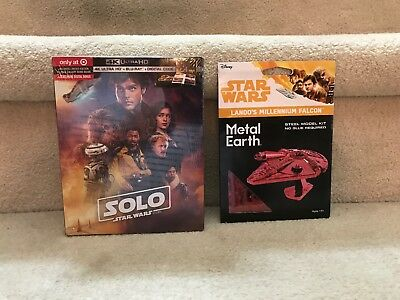 Target Exclusive Millennium Falcon & Solo: A Star Wars Story 4K/UHD + 2 Blu-Ray
