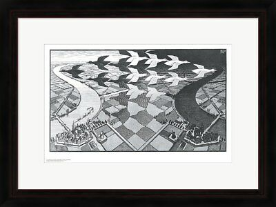 "Framed Art, ""Day and Night"", by M.C. Escher, 32x26"