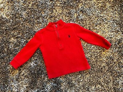 Good Condition - Ralph Lauren Zip Up Jumper - 24 Months - Red