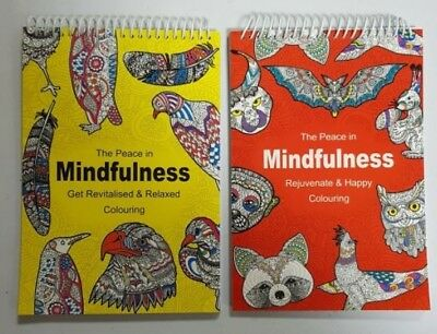 ADULT COLOURING BOOK Mindfulness Relaxing Anti-Stress Christmas Gift for Him Her