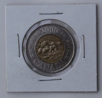 2000 Canada Two Dollar Coin Toonie $2; Knowledge; Circulated