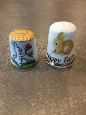2 Vintage Thimbles Easter By Roba Limited Edition & Finsbury Fine Bone China