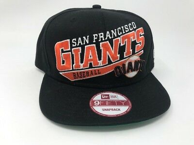 abe81015af9 San Francisco Giants MLB New Era 9Fifty Skewscript Snapback Authentic Hat