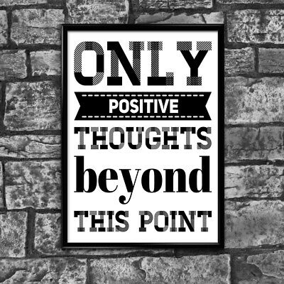 Motivational Inspirational Positive Thoughts Quote Poster Picture Print Wall 2