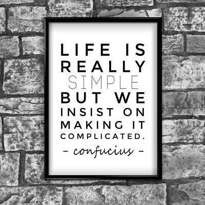 Life Motivational Inspirational Positive Thoughts Quote Poster Print Wall 31