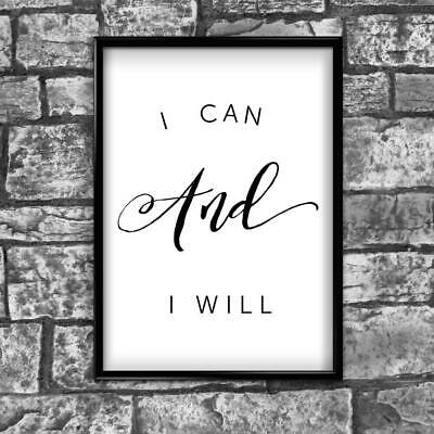 Motivational Inspirational Positive Thoughts Quote Poster Picture Print Wall 42