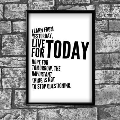 Motivational Inspirational Positive Thoughts Quote Poster Picture Print Wall 43