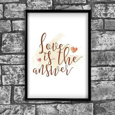 Love Motivational Inspirational Positive Thoughts Quote Poster Print Wall 71