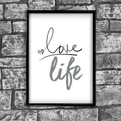 Love Motivational Inspirational Positive Thoughts Quote Poster Print Wall 72