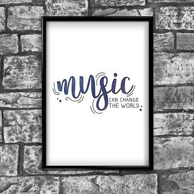 Music Motivational Inspirational Positive Thoughts Quote Poster Print Wall 77