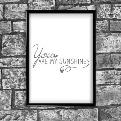 Sunshine Motivational Inspirational Positive Thoughts Quote Poster Print Wall 81