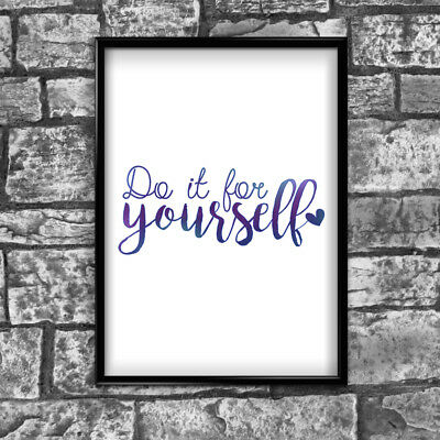 Yourself Motivational Inspirational Positive Thoughts Quote Poster Print Wall 90