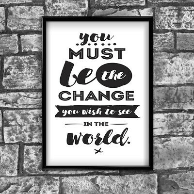 Motivational Inspirational Positive Thoughts Quote World Poster Print Wall 96