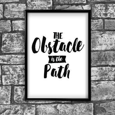 Motivational Inspirational Positive Thoughts Quote Picture Poster Print Wall 104