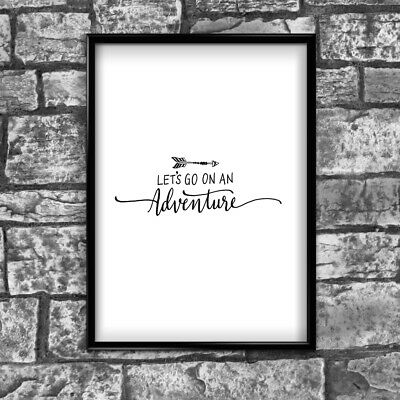 Motivational Inspirational Positive Thoughts Adventure Poster Print Wall 123