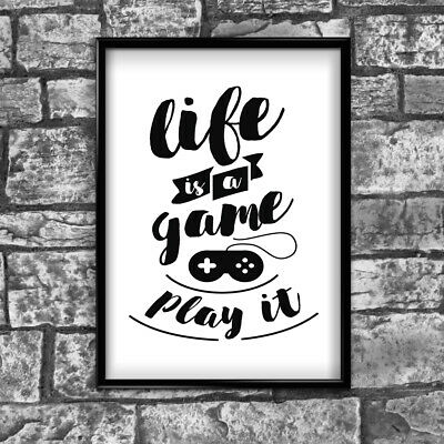 Motivational Inspirational Positive Thoughts Quote Life Poster Print Wall 126