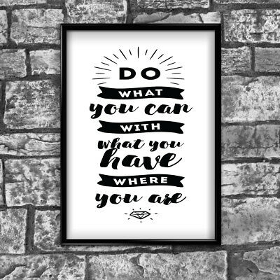 Motivational Inspirational Positive Thoughts Quote Picture Poster Print Wall 136