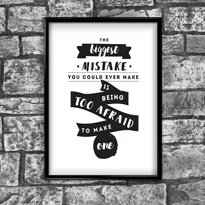 Motivational Inspirational Positive Thoughts Quote Picture Poster Print Wall 140