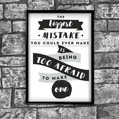 Motivational Inspirational Positive Thoughts Quote Picture Poster Print Wall 163