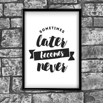 Motivational Inspirational Positive Thoughts Quote Picture Poster Print Wall 170