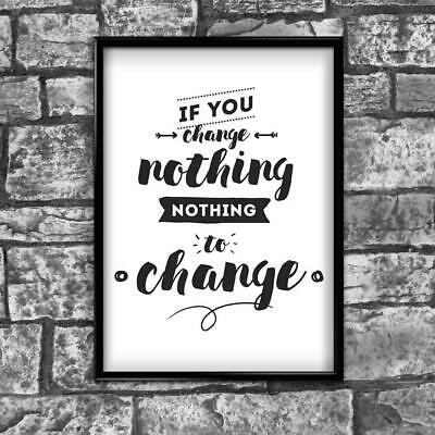 Motivational Inspirational Positive Thoughts Quote Picture Poster Print Wall 179
