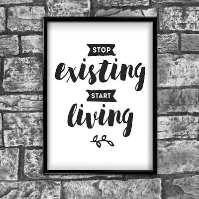 Motivational Inspirational Positive Thoughts Quote Picture Poster Print Wall 181