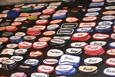 Employee Embroidered Worker Name Tag Sewn Patch for Uniform Work Shirt Jacket