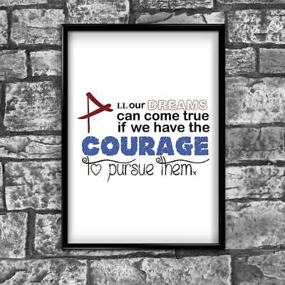 Motivational Inspirational Positive Thoughts Quote Courage Poster Print Wall 220