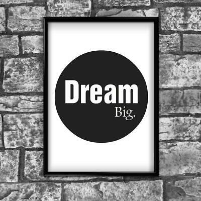 Motivational Inspirational Positive Thoughts Quote Dreams Poster Print Wall 230