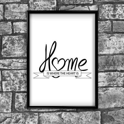 Motivational Inspirational Positive Thoughts Quote Home Heart Poster Print Wall