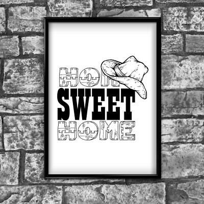 Motivational Inspirational Positive Thoughts Quote Home Sweet Poster Print Wall