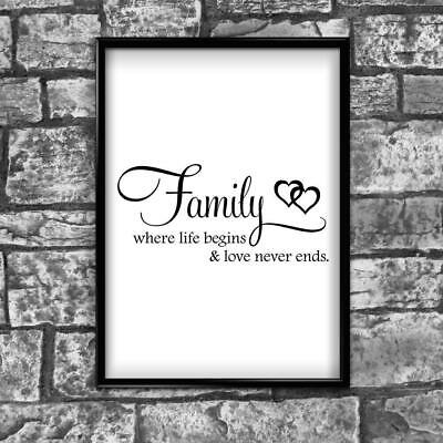 Motivational Inspirational Positive Thoughts Quote Family Poster Print Wall 268