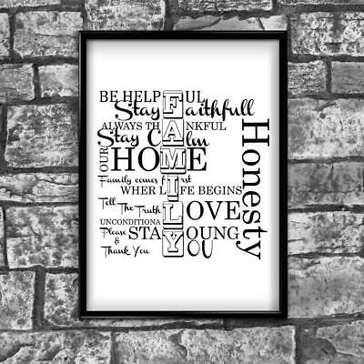 Motivational Inspirational Positive Thoughts Quote Family Poster Print Wall 271