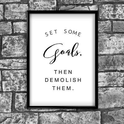 Set Goals Active Motivational Inspirational Love Postive Quote Poster Wall