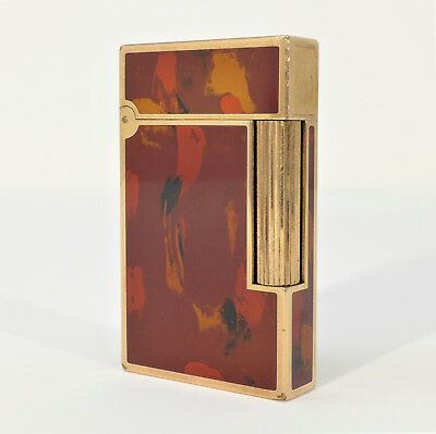 Accendino Dupont Paris in lacca di china rosso lighter feuerzeug lighter