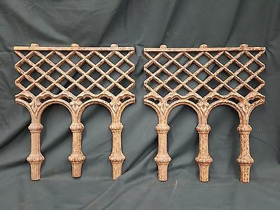 Architectural Salvage Cast Iron Diamond Grid Plaques Large