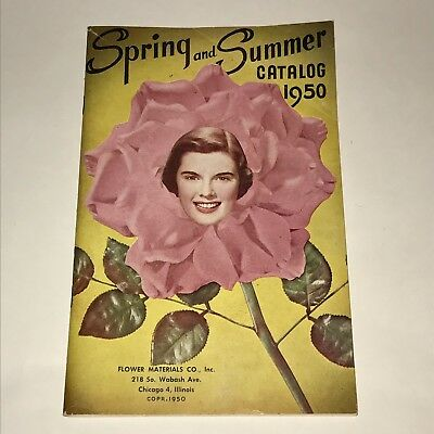 Vintage Millinery Flower Hats Jewelry Crafting Catalog 1950 Flower Materials Co