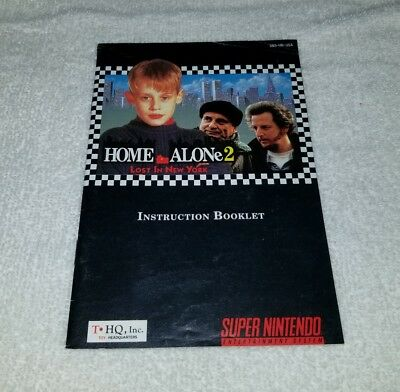 Home Alone 2: Lost in New York (Super Nintendo Entertainment  SNES) manual only