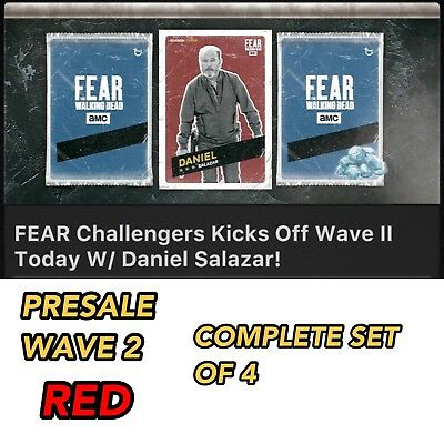 FEAR CHALLENGERS RED WAVE 2 PRESALE SET OF 4 Topps Walking Dead Digital