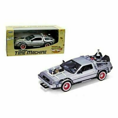 Back to the Future 3 DeLorean 1981 Time Machine Die-Cast Metal 1:24 Scale Vehicl