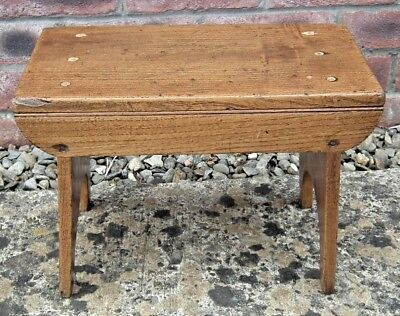 Antique/VintageTraditional Rustic Elm Stool. c.early 1900s.