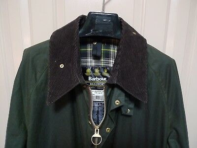 Barbour -A150 Beaufort Wax Cotton Jacket- Sage-Made @ England-Excellent -Size 48