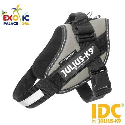 Julius-K9 Idc Powerharness Silver Grey Harness For Dog Nylon Resistant