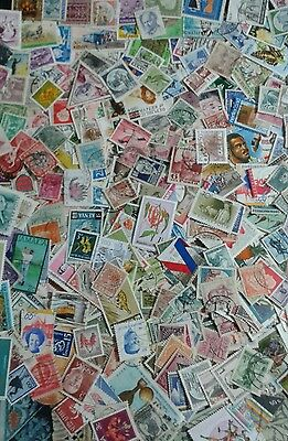 250grams Off paper World stamps, good mix. LVs - HVs. BIN