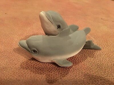 Dolphins Stone Critters Figurine Figure Made in USA