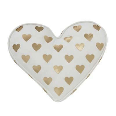 Lambs & Ivy Baby Love Decorative Pillow - Gold, White, Love, Hearts, Modern