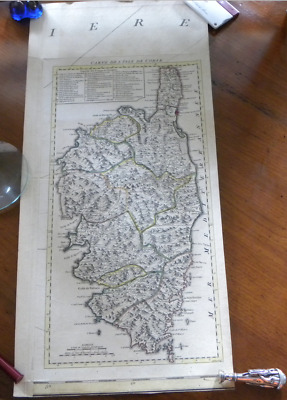 Corsica / L'isle de Corse Antique original map from J. ELLIS sculp.t 1768 / 1780